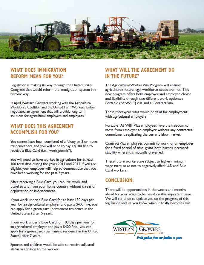 What Does Immigration Reform Mean For You Western Growers