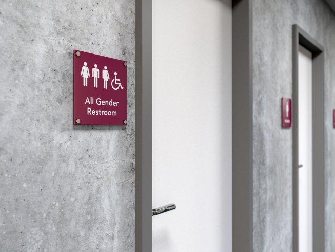 Emergency Regulations Clarify GenderNeutral Signage Rules For Field - Gender neutral bathrooms california