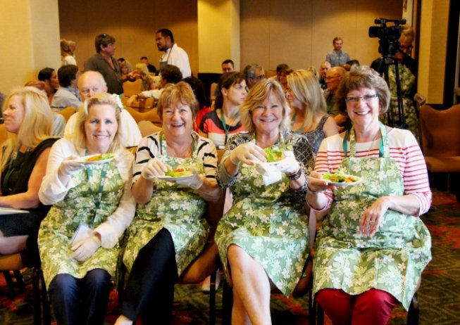 Picture of Annual Meeting Attendees Having Fumn at the Top Chef Workshop