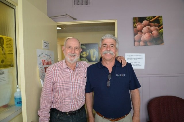 At the Cedar Health Center Open House, WG's David Zanze (l) and John Maulhardt.