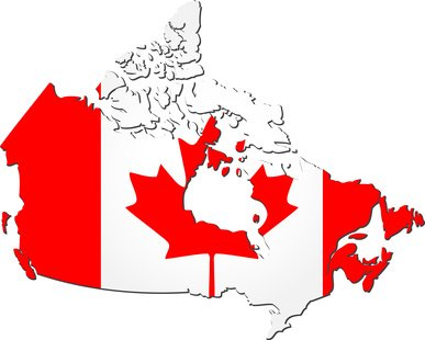 Picture of Canadian Flag in the shape of Canada