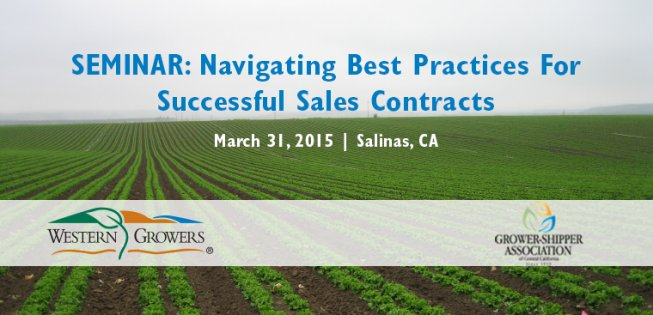 WG will hold a seminar on the PACA in Salinas on March 31