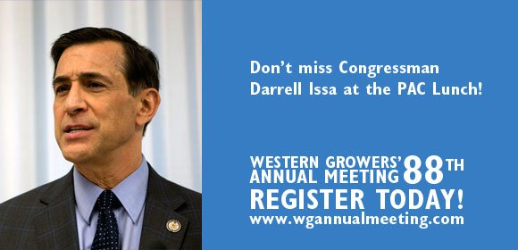 Darrell Issa to speak at Western Growers Annual Meeting in Hawaii