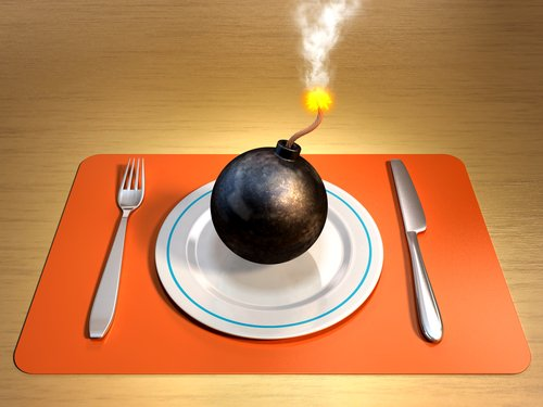 """Picture of an """"Explosive"""" Place Setting"""