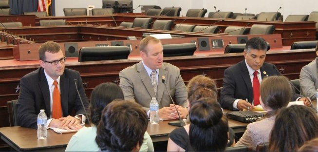 Rep. Jeff Denham holding an immigration panel discussion on Aug. 1.