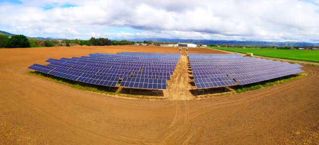 Uesugi Farms has installed an expansive solar power system.