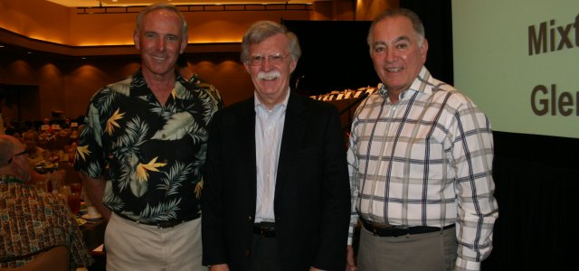Picture of Steve Barnard, former-Ambassdor John Bolton and Tom Nassif