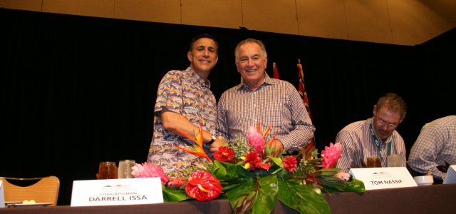 Chairman Darrell Issa with WG's President and CEO, Tom Nassif