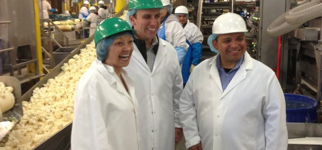 Officials and legislators tour Salinas with Western Growers.