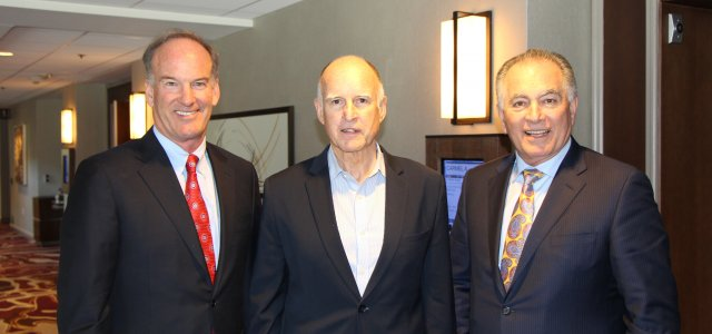 Bruce Taylor, Gov. Jerry Brown and Tom Nassif at WG Board meeting.