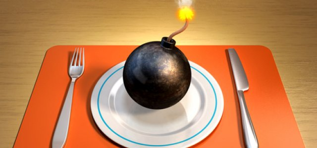 "Picture of an ""Explosive"" Place Setting"