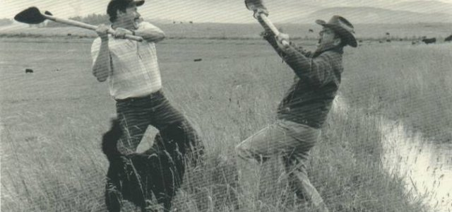 "Picture of Two ""Farmers"" Fighting Over Water"